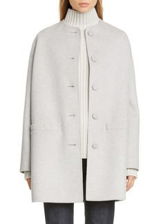 MARC JACOBS Collarless Wool, Cashmere & Silk Coat