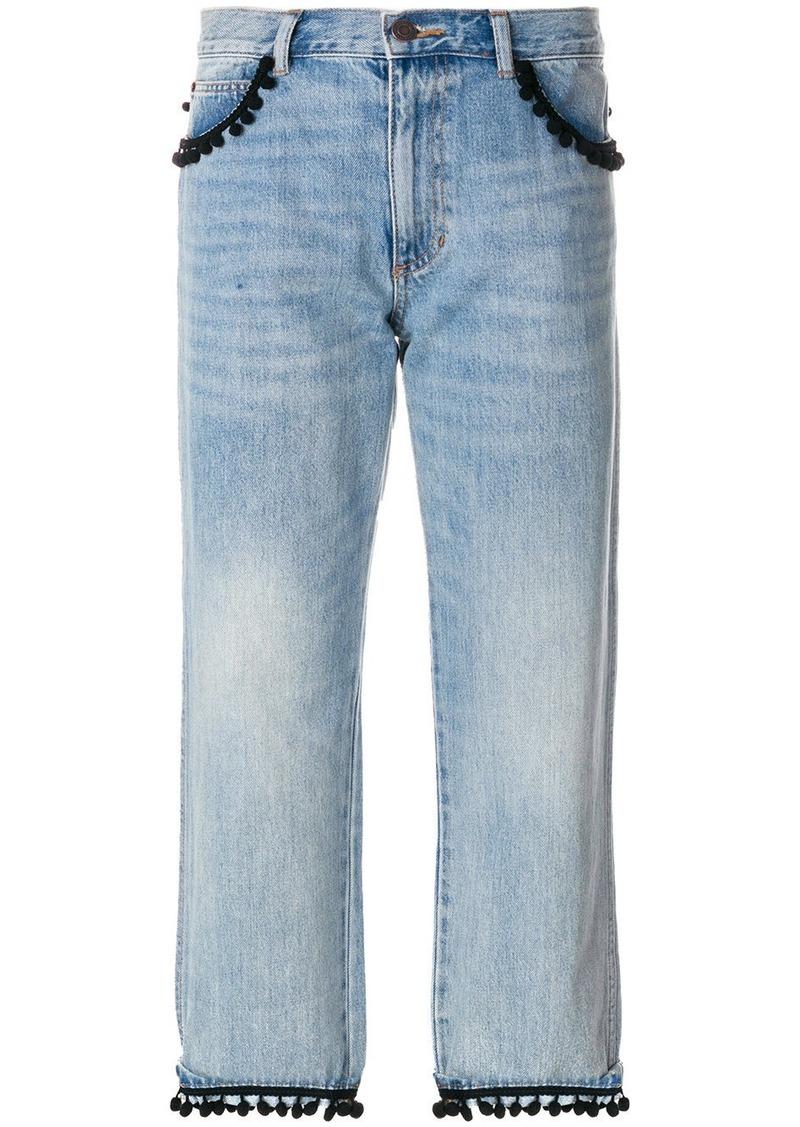 Marc Jacobs cropped pom pom jeans