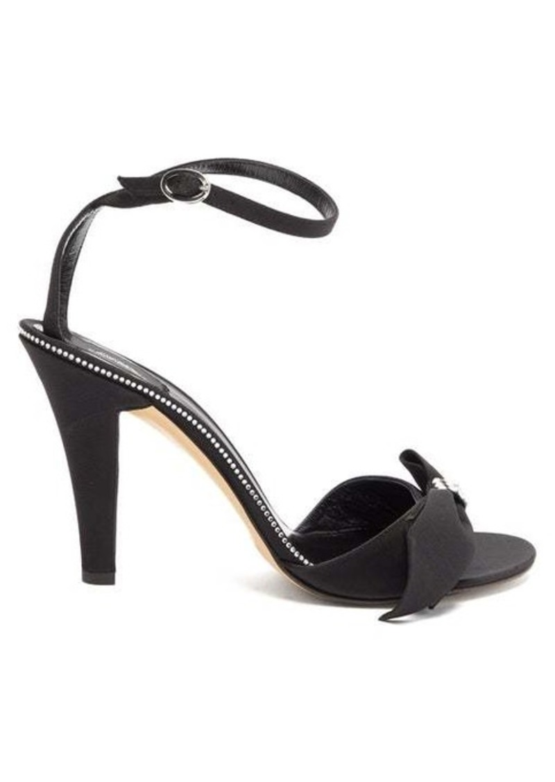 Marc Jacobs Crystal-bow grosgrain sandals