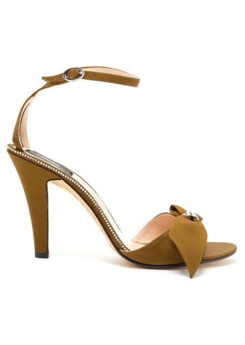 Marc Jacobs Crystal-embellished bow grosgrain sandals