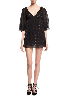 Marc Jacobs Crystal-Embellished Mini Dress
