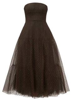 Marc Jacobs Crystal-embellished strapless tulle dress
