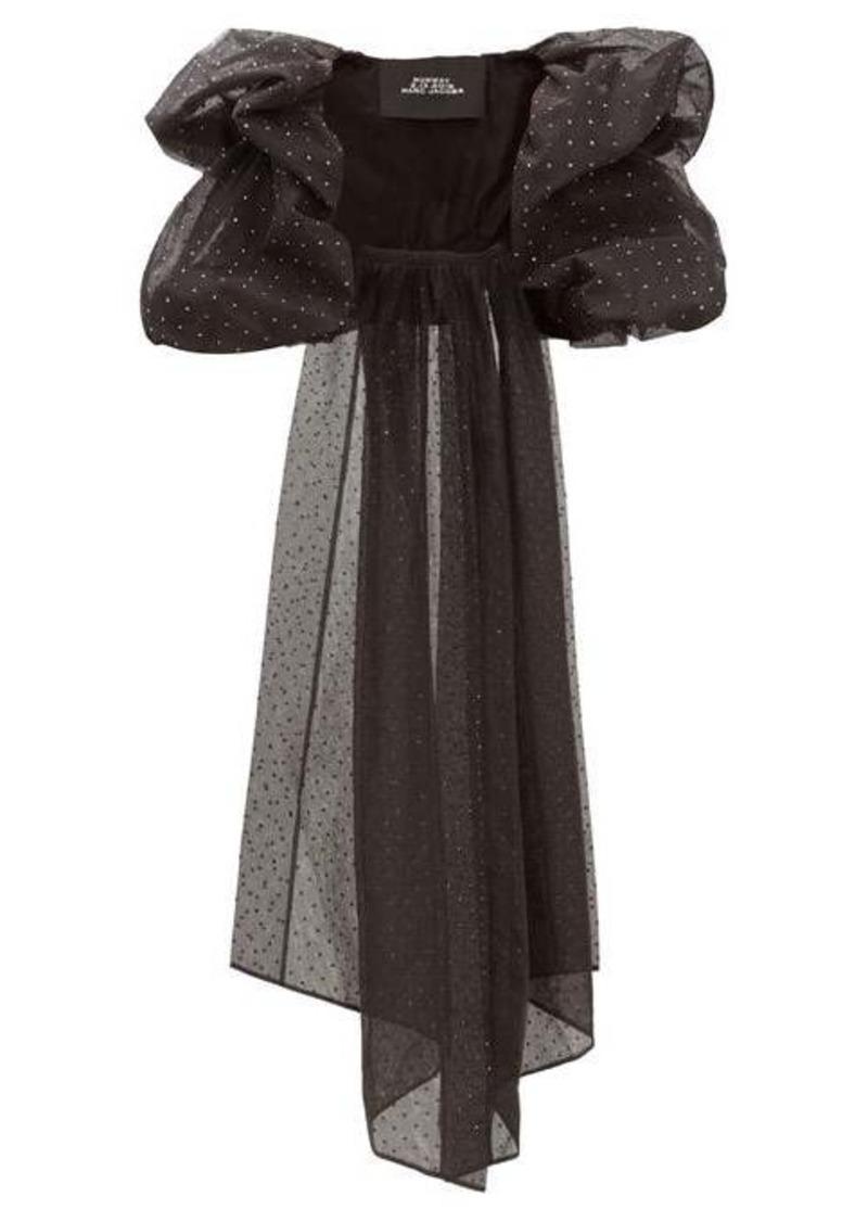 Marc Jacobs Crystal-embellished tulle bolero jacket