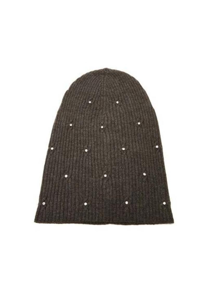 Marc Jacobs Crystal-embellished wool-blend beanie hat