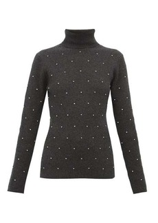 Marc Jacobs Crystal-embellished wool-blend sweater