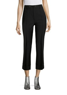 Marc Jacobs Crystal-Embroidered Wide-Leg Wool Trousers