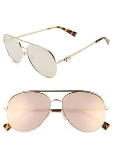 MARC JACOBS Daisy 58mm Mirrored Aviator Sunglasses