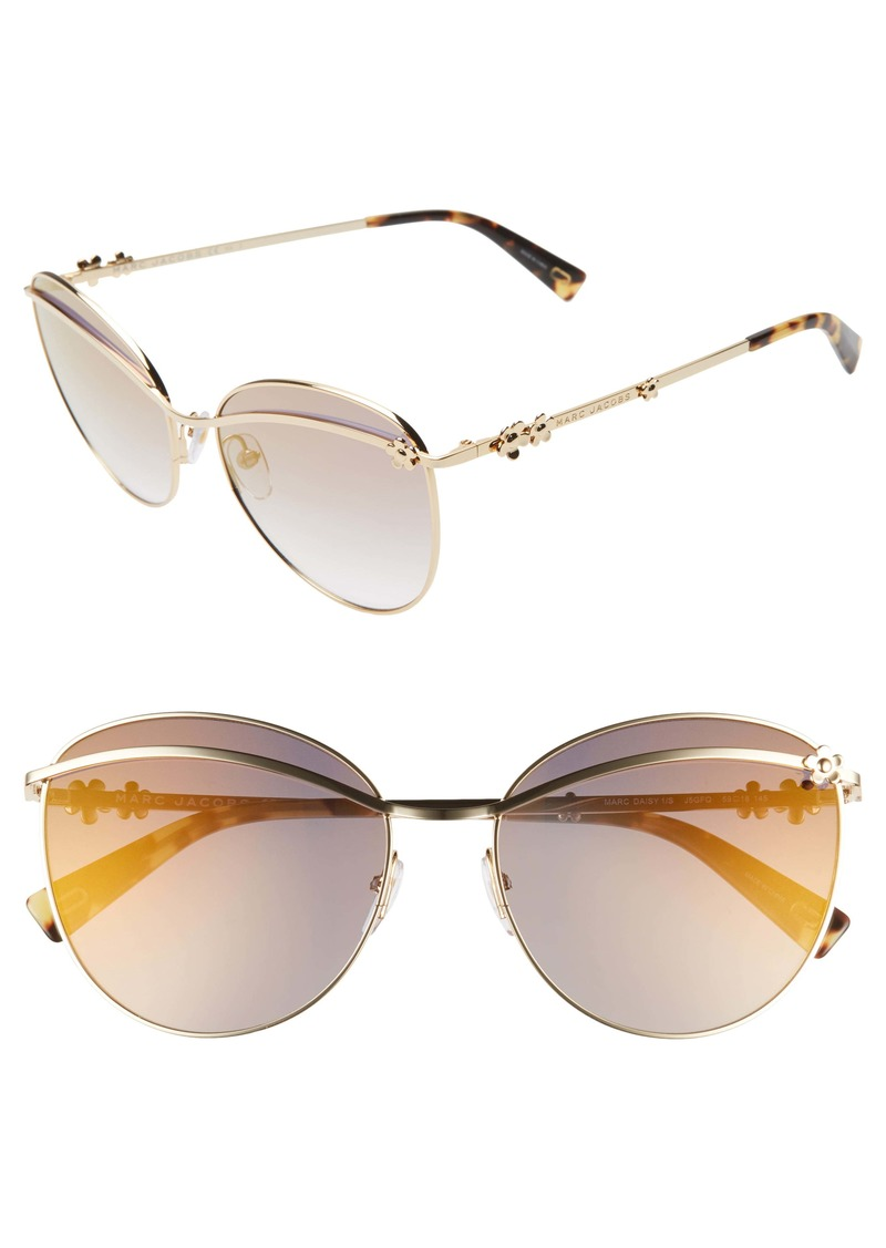MARC JACOBS Daisy 59mm Tinted Butterfly Sunglasses