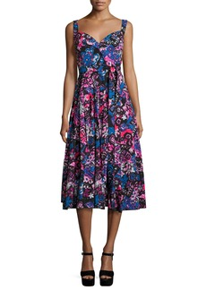 Marc Jacobs Daisy-Doodle Sleeveless Midi Dress