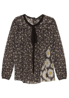 Marc Jacobs Daisy-print cotton-voile blouse
