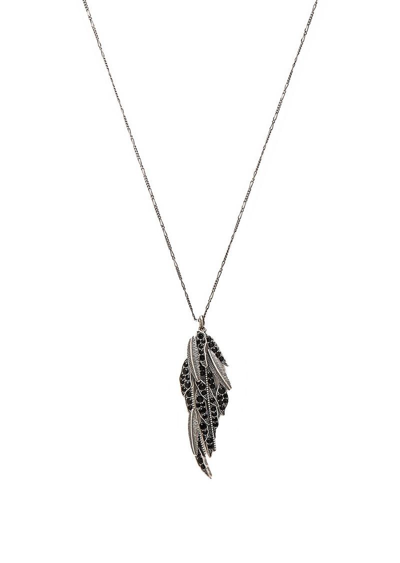 Marc Jacobs Dark Plumes Long Pendant Necklace