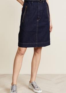 Marc Jacobs Denim Skirt with Zip Pockets
