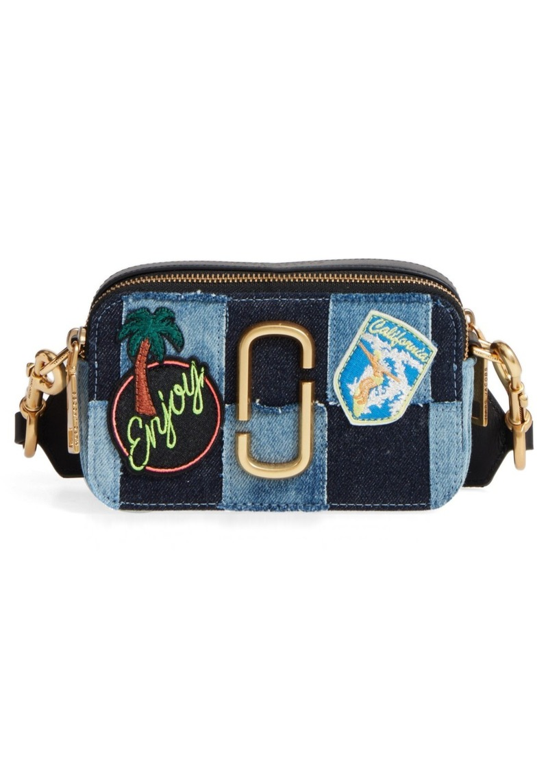 32df58914f09 Marc Jacobs MARC JACOBS Denim Snapshot Crossbody Bag