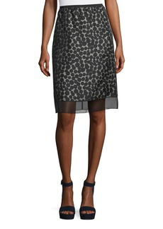 Marc Jacobs Dot-Jacquard Pencil Skirt