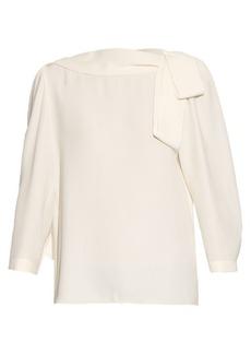 Marc Jacobs Draped-tie silk-crepe blouse