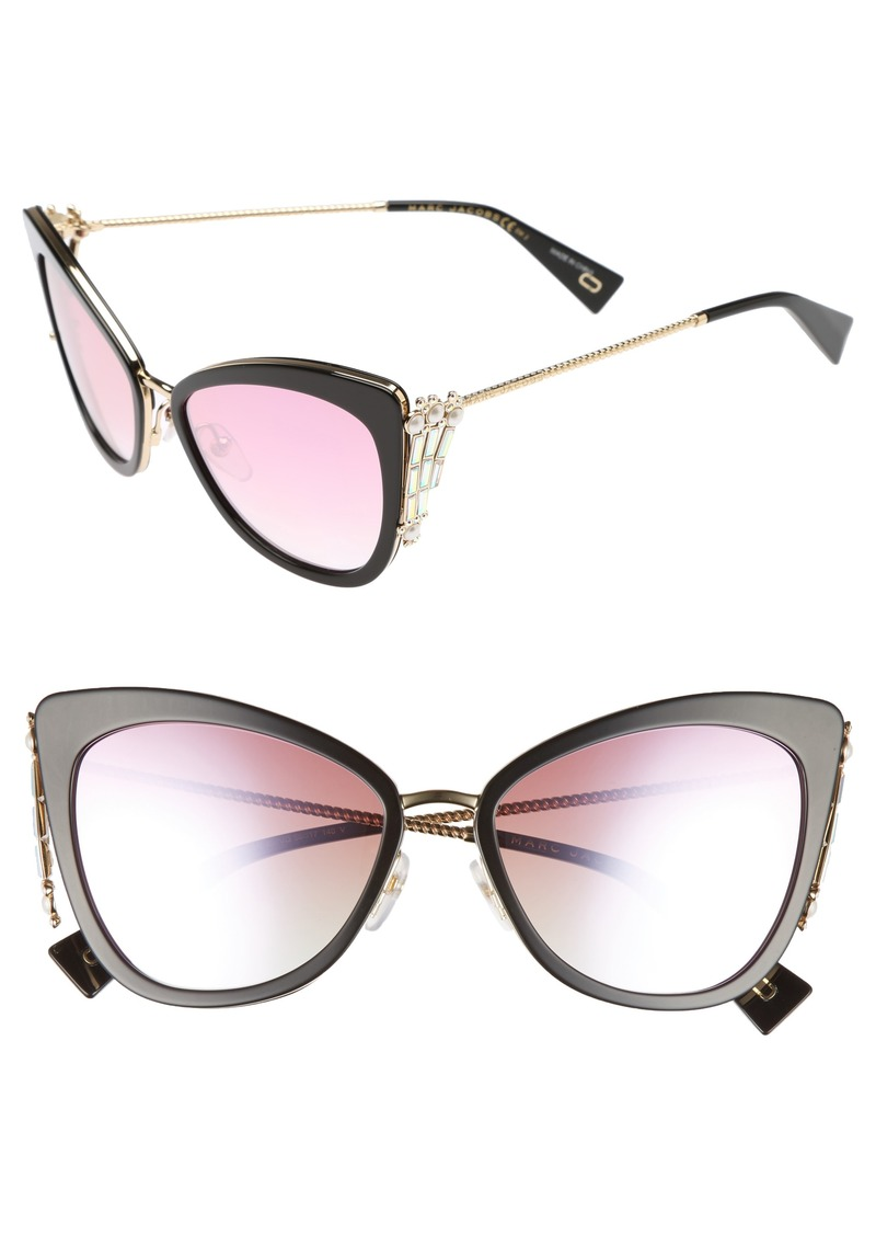300aef73cb4 Marc Jacobs MARC JACOBS Embellished 56mm Cat Eye Sunglasses