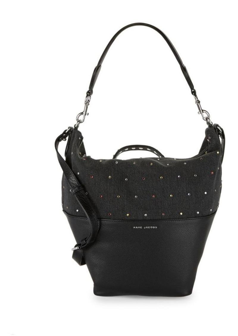 f432bd1d320a Marc Jacobs Marc Jacobs Embellished Grip Denim Shoulder Bag