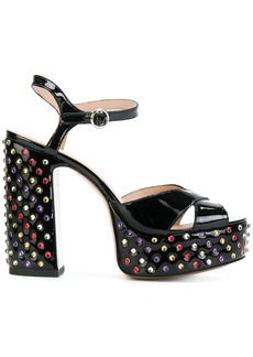 Marc Jacobs embellished Lust platform sandals - Black