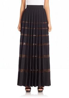 Marc Jacobs Embellished Sheer-Stripe Skirt