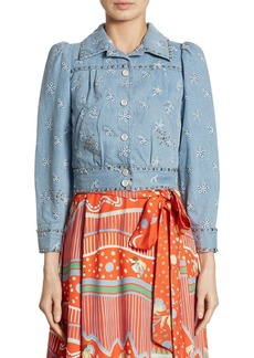 Marc Jacobs Embroidered Denim Jacket