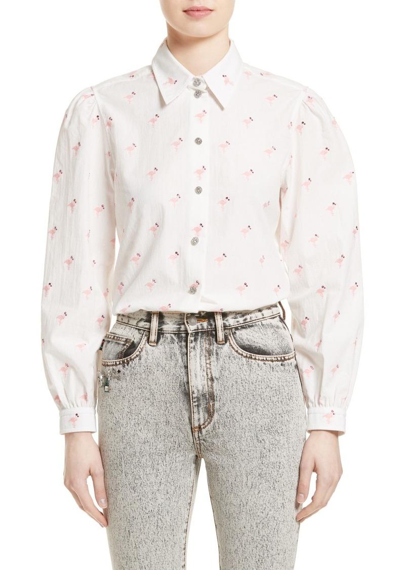 b33e10068cfc5b Marc Jacobs MARC JACOBS Embroidered Flamingo Shirt