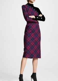 Marc Jacobs Embroidered Plaid Dress