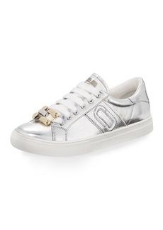 Marc Jacobs Empire Metallic Chain-Link Low-Top Sneakers