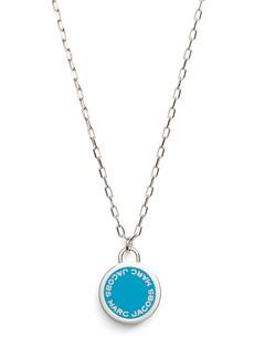 MARC JACOBS Enamel Logo Pendant Necklace