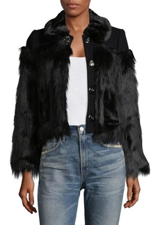 Marc Jacobs Faux Fur Button Jacket