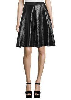 Marc Jacobs Flared Faux-Leather Skirt
