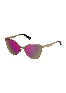Marc Jacobs Flat Metal Cat-Eye Sunglasses
