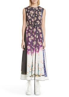MARC JACOBS Floral Dégradé Photo Print Dress