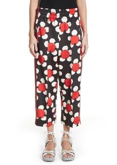 MARC JACOBS Floral Print Crop Track Pants