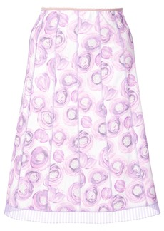 Marc Jacobs floral print pleated skirt - Pink & Purple