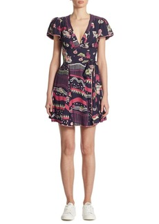 Marc Jacobs Floral-Print Mini Dress