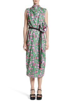 MARC JACOBS Floral Sequin Midi dress