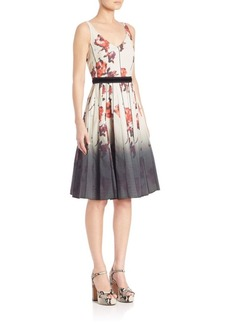 Marc Jacobs Floral V-Neck Dress