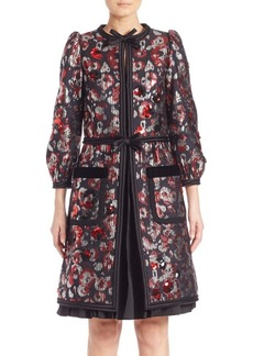 Marc Jacobs Flower Sequin Coat