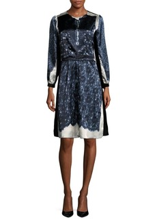 Marc Jacobs Flower Silk Knee-Length Dress