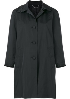 Marc Jacobs frill detail balmacaan coat - Black