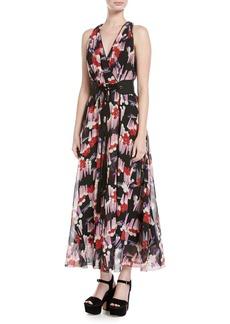 Marc Jacobs Geo-Spot Silk Georgette Midi Dress