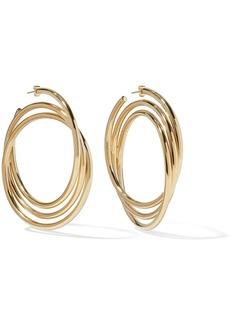 Marc Jacobs Gold-plated hoop earrings
