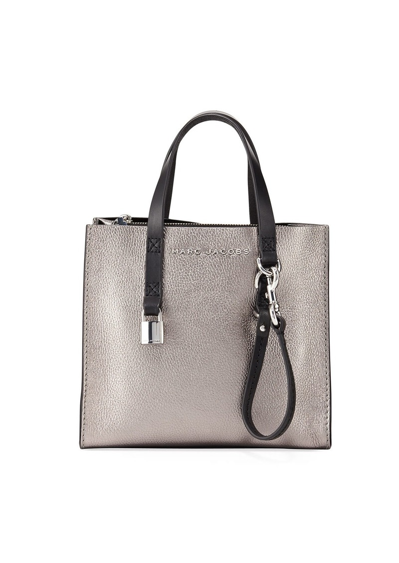 f9247e167 Marc Jacobs Marc Jacobs Grind Mini Metallic Leather Shopper Tote Bag ...