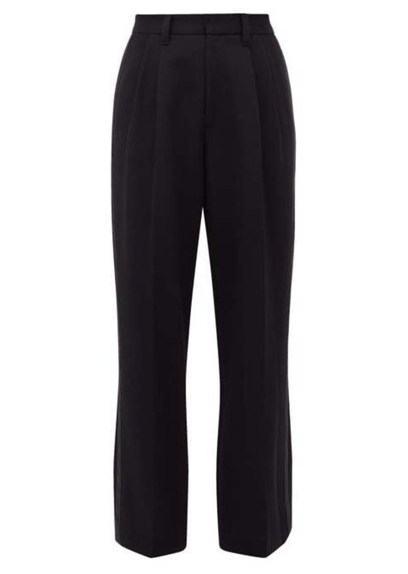 Marc Jacobs High-rise silk-striped wool trousers
