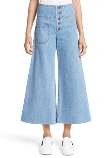MARC JACOBS High Waist Crop Flare Jeans (Retro Indigo)