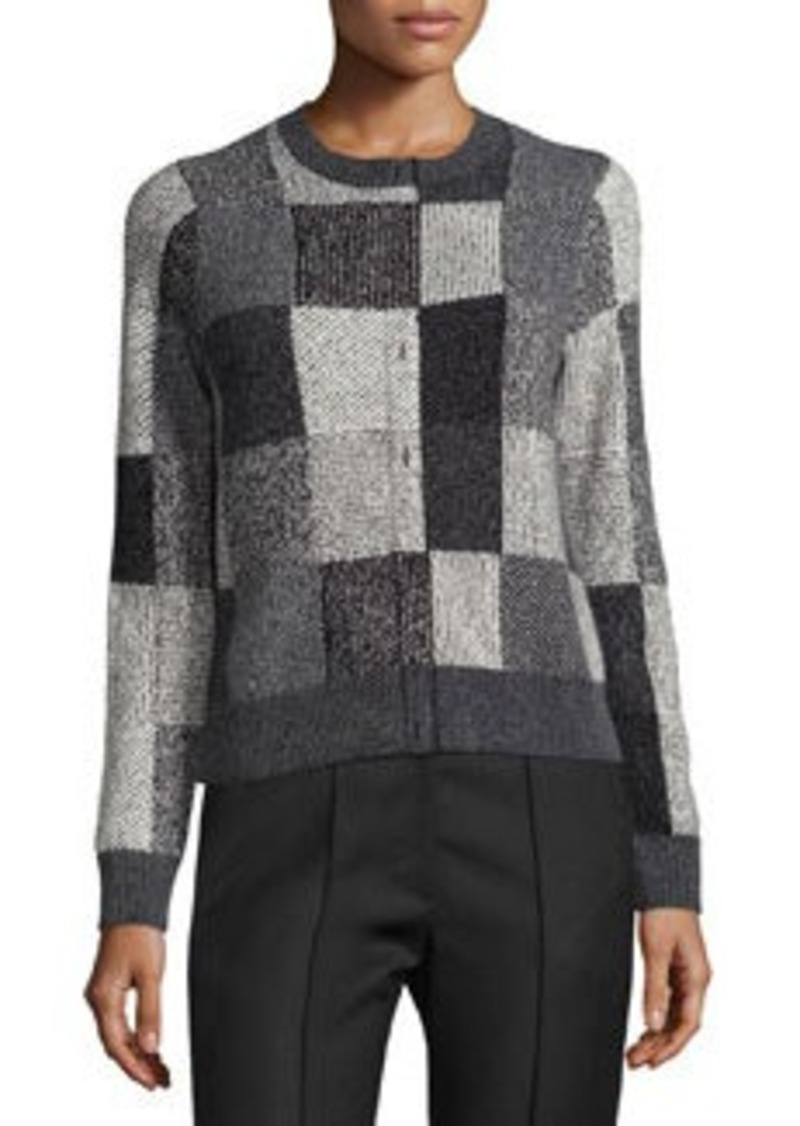Marc Jacobs Intarsia Faux-Placket Patchwork Sweater