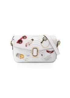 Marc Jacobs J Marc Embroidered Python Shoulder Bag
