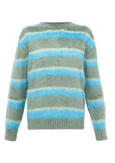 Marc Jacobs Jacquard-stripe carded-silk sweater