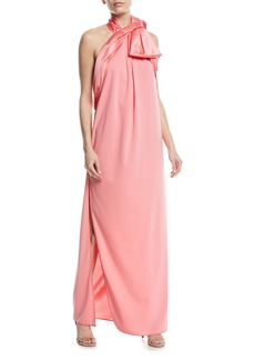 Marc Jacobs Jersey Halter Gown w/Bow