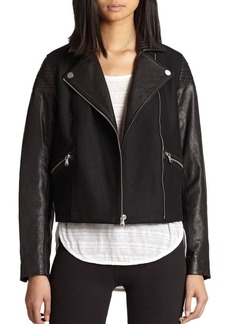 Marc by Marc Jacobs Karlie Leather & Wool Jacket